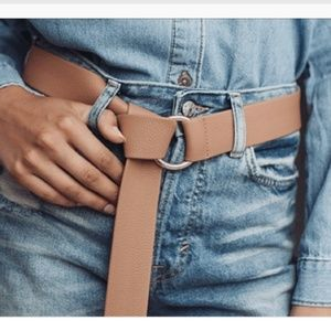 B-LOW THE BELT Brown Mia Gold Hardware Tie Belt